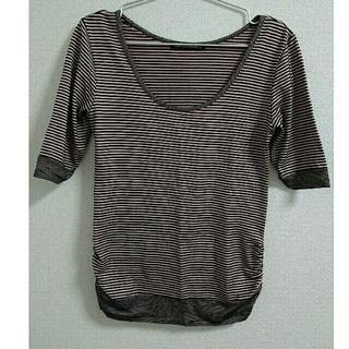 ゴーサンゴーイチプーラファム(5351 POUR LES FEMMES)のピンク ブラック ボーダー(Tシャツ(半袖/袖なし))
