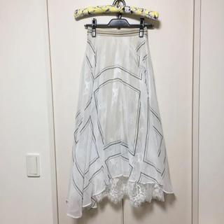 フレイアイディー(FRAY I.D)のフレイアイディ 石原さとみ着用 シースルーエアリースカート(ロングスカート)