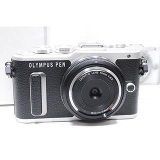 オリンパス(OLYMPUS)の❤️WiFi&自撮り❤️OLYMPUS PEN E-PL8 大人気のブラック♫(ミラーレス一眼)