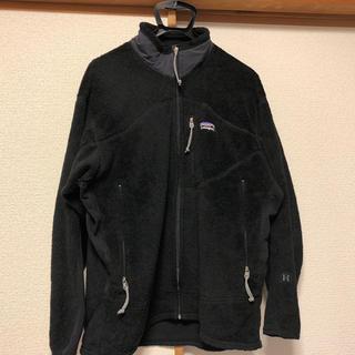 パタゴニア(patagonia)のPatagonia フリース 03年刺繍タグ Lsize 黒 Rシリーズ(ブルゾン)