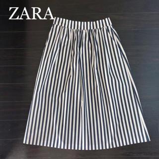 ザラ(ZARA)のZARA ザラ ストライプ スカート(ひざ丈スカート)