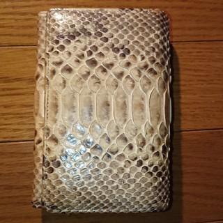 ドナ(Donna)の蛇革財布(折り財布)
