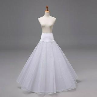 a8c51667ab7c4  花嫁ドレス 定番 1本ワイヤー 2層チュール パニエ 結婚パニエ Aライン