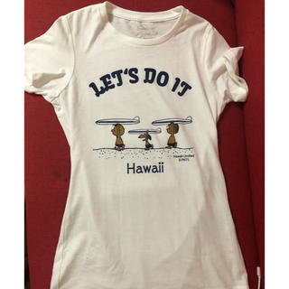 スヌーピー(SNOOPY)のハワイ限定 日焼けスヌーピー XS 新品(Tシャツ(半袖/袖なし))