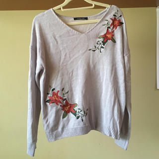 シマムラ(しまむら)の花柄刺繍 ニット(ニット/セーター)
