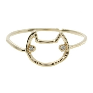 ツモリチサト(TSUMORI CHISATO)の新品 ツモリチサト ジュエリー 線ネコ リング ダイヤモンド(リング(指輪))