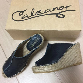 カルザノール(Calzanor)のカルザノール レザー サボ サンダル 36(サンダル)