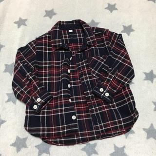 MUJI (無印良品) - ベビー☆フランネル チェック シャツ 90