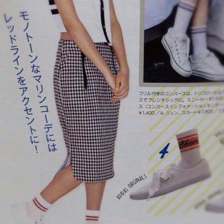 トゥーパーセントトウキョウ(2% TOKYO)のギンガムチェックタイトスカート(ひざ丈スカート)