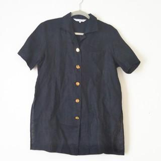 クリスチャンディオール(Christian Dior)のクリスチャンディオール ブラウス L  黒(シャツ/ブラウス(半袖/袖なし))