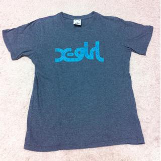 エックスガール(X-girl)の[X-girl]ロゴ入りTシャツグレー(Tシャツ(半袖/袖なし))