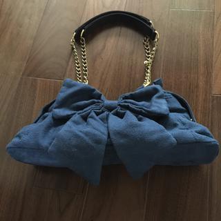 ハコ(haco!)の美品♡【リボン付き♡可愛いバッグ♡】金具ゴールド♡  (ハンドバッグ)