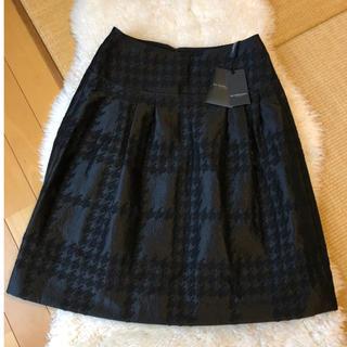 バーバリー(BURBERRY)の約5万未使用タグ付きバーバリーBurberry上質ウール混チェック柄スカート(ひざ丈スカート)
