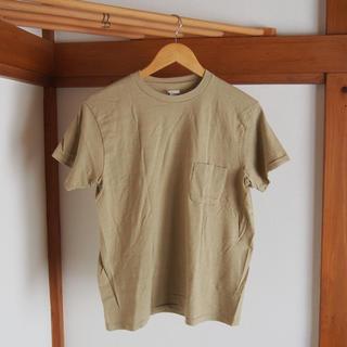 ヤエカ(YAECA)のYAECA◯丸胴クルーネックポケットTシャツ◯ベージュ◯新品未使用(Tシャツ/カットソー(半袖/袖なし))