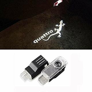 アウディ(AUDI)のWORLD STORE Audi Quattro LED カーテシライト(車内アクセサリ)