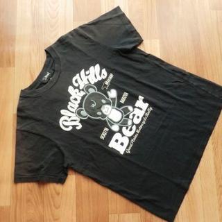 ベアー(Bear USA)のBear USA■ベアー■ アニメ調 クマくん柄・半袖 Tシャツ■黒■メンズ L(Tシャツ/カットソー(半袖/袖なし))