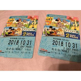 ディズニー(Disney)のらがこ様専用  ディズニー リゾートライン フリーきっぷ 大人2枚(鉄道乗車券)