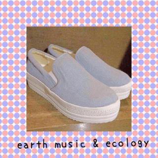 アースミュージックアンドエコロジー(earth music & ecology)のアースミュージック厚底スリッポン(スリッポン/モカシン)
