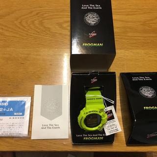 ジーショック(G-SHOCK)のCASIO カシオ G-SHOCK フロッグマン GW-200F-3JR 極美品(腕時計(デジタル))
