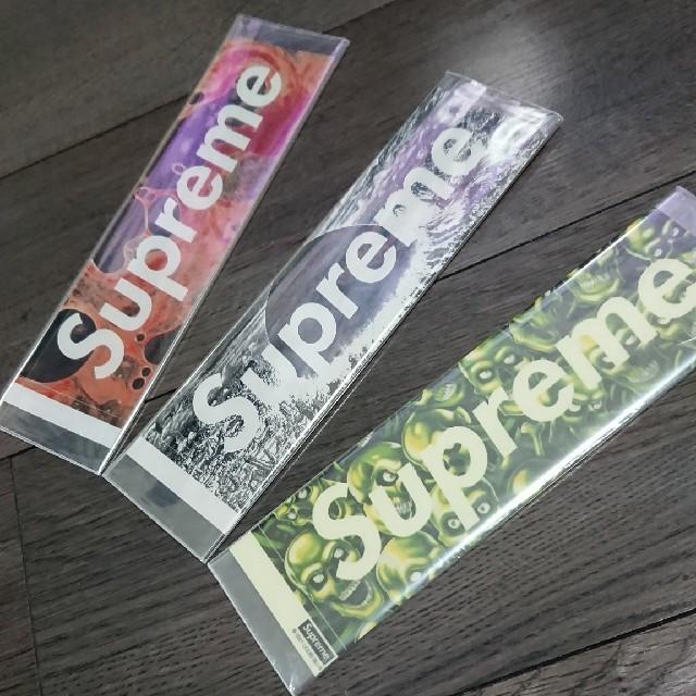 Supreme(シュプリーム)の最安★supreme boxlogo ステッカー 三点セット★ 自動車/バイクのバイク(ステッカー)の商品写真