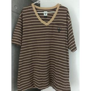 エスツーダブルエイト(S2W8)のS2W8 ボーダーVネックTシャツ(Tシャツ/カットソー(半袖/袖なし))