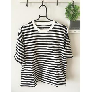 ムジルシリョウヒン(MUJI (無印良品))の無印良品 ボーダーワイドTシャツ(Tシャツ(半袖/袖なし))