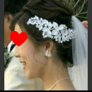 結婚式 ヘッドドレス ヘアアクセサリー ボンネ(ヘッドドレス/ドレス)