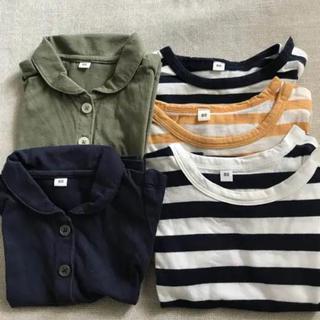 MUJI (無印良品) - 無印  ベビーTシャツ  80センチ   5枚セット