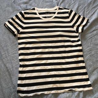 ムジルシリョウヒン(MUJI (無印良品))の無印良品☆MUJI☆ボーダー☆Tシャツ☆XL(Tシャツ(半袖/袖なし))