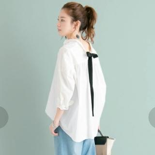 アーバンリサーチ(URBAN RESEARCH)の理想のシャツと言われる!UR BACKリボンオーバーゆるっとシャツ(シャツ/ブラウス(長袖/七分))