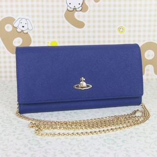 ヴィヴィアンウエストウッド(Vivienne Westwood)のヴィヴィアンウエストウッド 斜めがけ お財布ショルダー チェーン ブルー(財布)