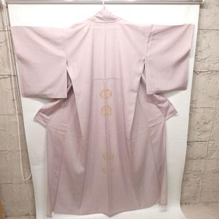 C252 中古 着物 夏用 薄紫 薄手 レディース(着物)