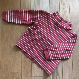 ムジルシリョウヒン(MUJI (無印良品))のMUJIタートルネック赤  100サイズ(Tシャツ/カットソー)