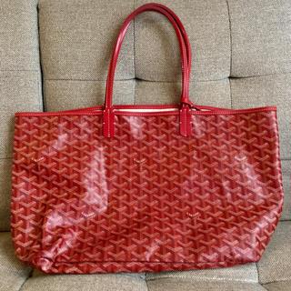 ゴヤール(GOYARD)の美品 ゴヤール goyard トートバッグ 赤 レッド 鞄 サンルイPM(トートバッグ)