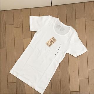 ムジルシリョウヒン(MUJI (無印良品))の新品 未使用  無印良品  オーガニックコットン クルーネック Tシャツ 白(Tシャツ(半袖/袖なし))