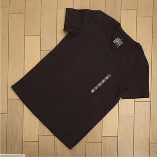 ムジルシリョウヒン(MUJI (無印良品))の無印良品  vネック 半袖Tシャツ  オーガニックコットン ダークブラウン xs(Tシャツ(半袖/袖なし))
