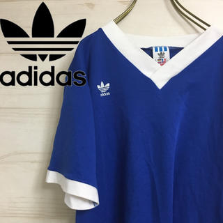 アディダス(adidas)のadidas ☆ アディダス 国旗タグ Tシャツ Vネック Mサイズ(Tシャツ/カットソー(半袖/袖なし))