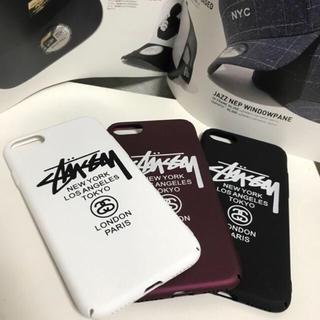ステューシー(STUSSY)の【注目!新品】STUSSY iPhone7/8ケース ホワイトハードケースマッド(iPhoneケース)