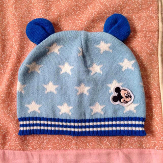 ディズニー(Disney)の乳児ニット帽☆ミッキー☆40〜42cm☆(その他)