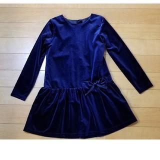 ジーユー(GU)のGU ベロアドレス 140 音楽会 クリスマス ハロウィーン(ドレス/フォーマル)