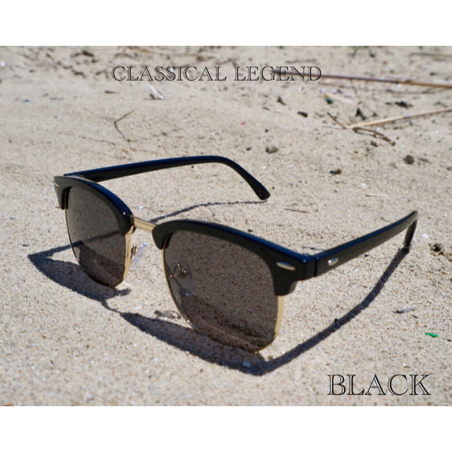 6802050e28c8d9 サングラス サーモント ミラー スモーク 伊達メガネ 男女兼用 ブラック メンズのファッション小物(サングラス/