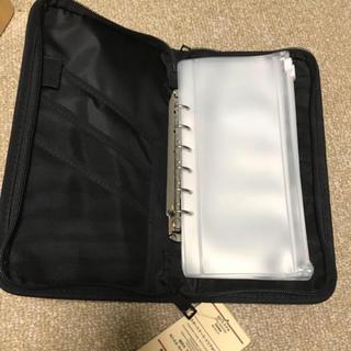 ムジルシリョウヒン(MUJI (無印良品))の無印良品 パスポートケース クリアポケット付き ブラック(日用品/生活雑貨)