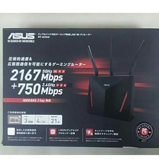 エイスース(ASUS)のASUS ゲーミングWi-Fi無線ルーター RT-AC86U(PC周辺機器)