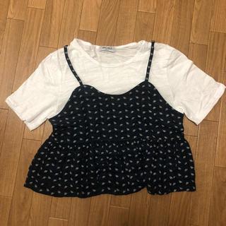 ロクロクガールズ(66girls)の66girls ビスチェ付きTシャツ(Tシャツ(半袖/袖なし))