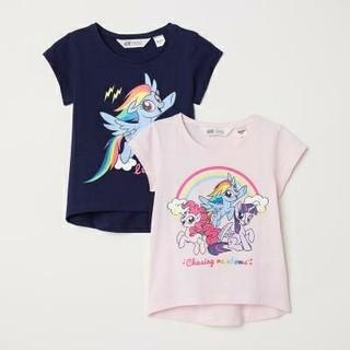 エイチアンドエム(H&M)のH&M マイリトルポニー Tシャツ 2枚セット 90㎝(Tシャツ/カットソー)