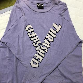 スラッシャー(THRASHER)のTHRASHER ロンT  パープル sサイズ(Tシャツ/カットソー(七分/長袖))
