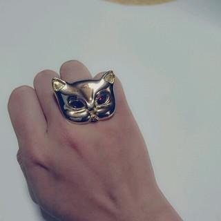 ゴールドキャットのリングの(リング(指輪))