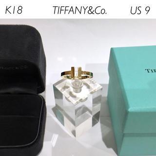 ティファニー(Tiffany & Co.)の【メンズ】銀座本店購入★TIFFANY K18 Tスクエアリング US9(リング(指輪))