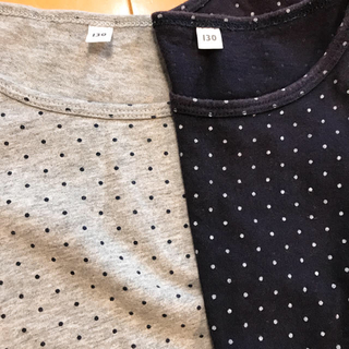 ムジルシリョウヒン(MUJI (無印良品))のmaki-maki様 無印130長袖半袖・140ワンピ(Tシャツ/カットソー)