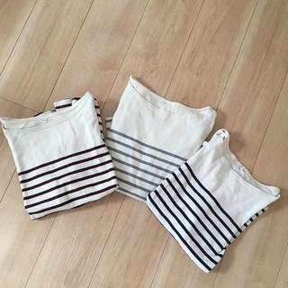 ムジルシリョウヒン(MUJI (無印良品))の無印良品 ボーダー Sサイズセット(Tシャツ(長袖/七分))